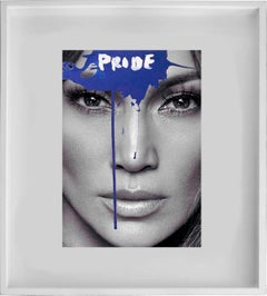 Pride - Jennifer Lopez. A Unique  Photocollage  intervened by the artists