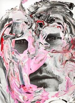 Skarsgård, On a Kind Photo collage intervened with Acrylic On Glicée Print