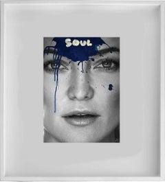 Soul - Kate Hudson Black and White Mixed Media Photograph, 2017 - Framed