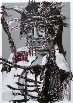 Untitled III, 2017, Wax, Acrylic Oil Pastel On Glicée Print