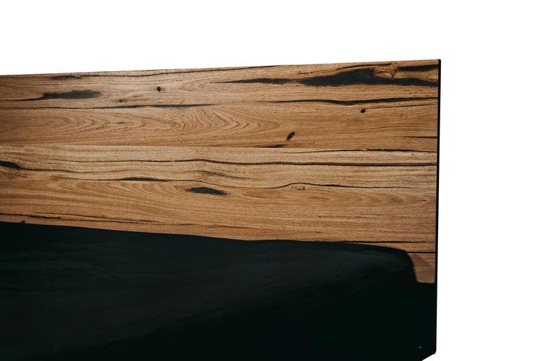 Modern Hunter Bed, Hancrafted in Tasmanian Messmate Hardwood For Sale