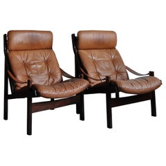 Hunter Highback Lounge Chair by Torbjørn Afdal for Bruksbo, Set of 2