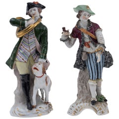 Hunters, Ancient Polychrome Porcelains, Real Fabrica Napoli, 1800