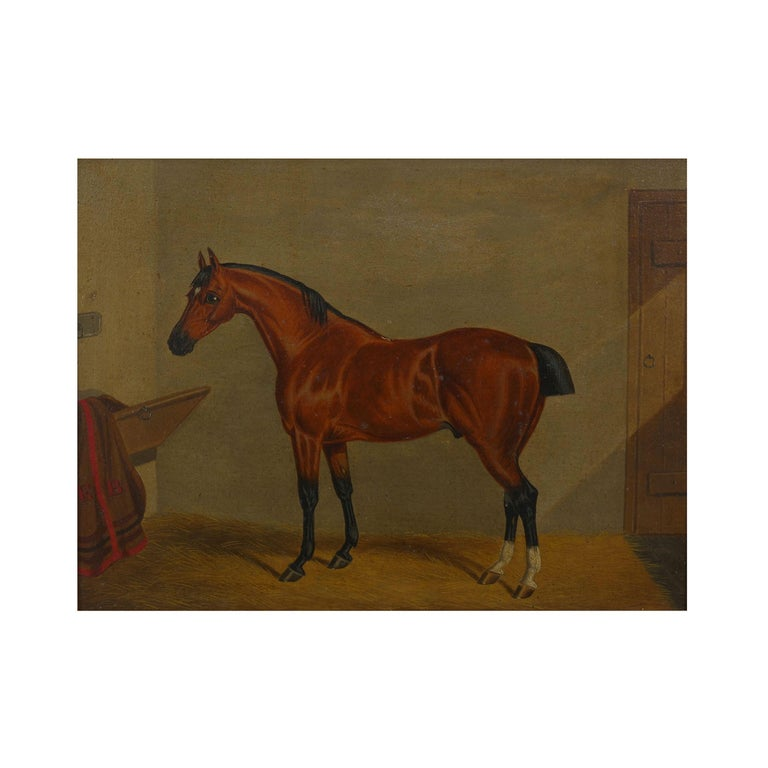 A fine set of matched of seven equestrian paintings of