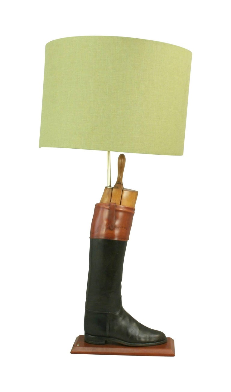 English Hunting Boot Lamps For Sale
