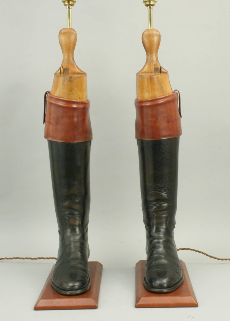 Early 20th Century Hunting Boot Lamps For Sale