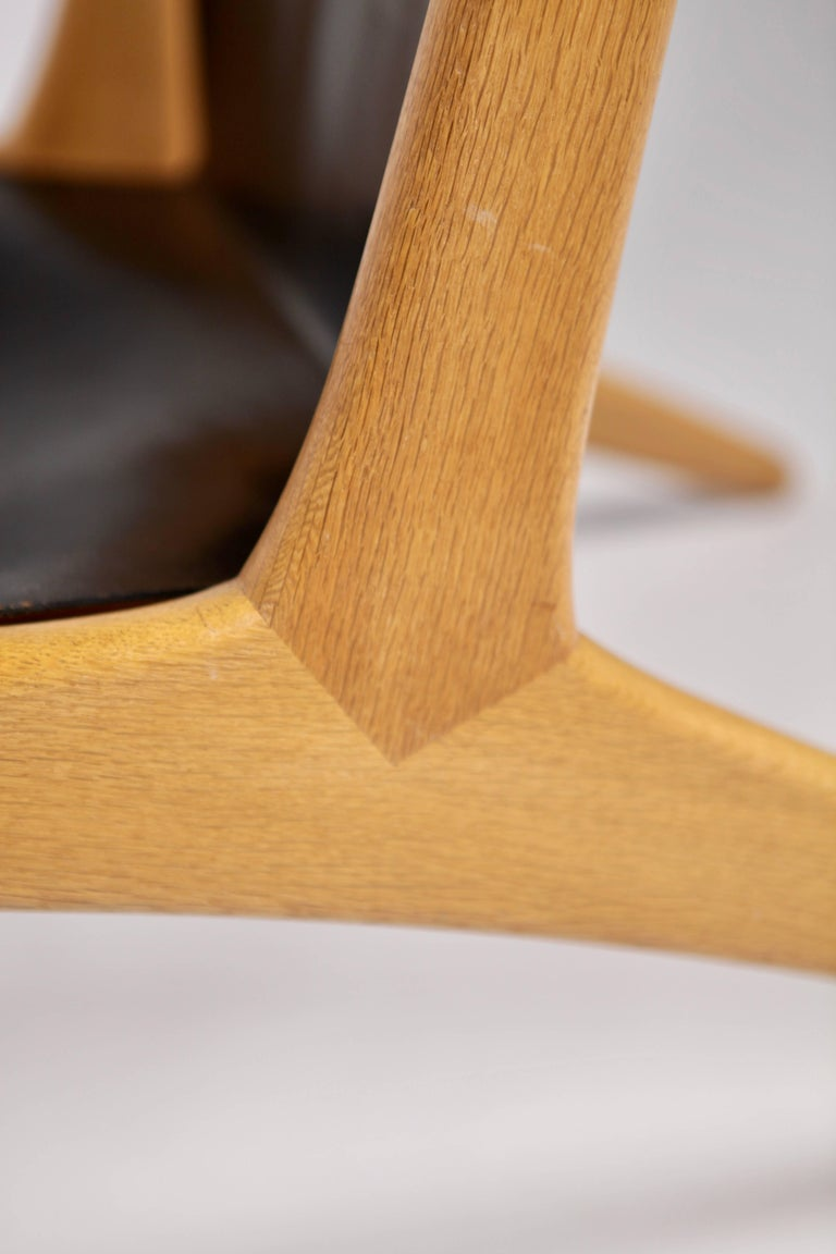 Hunting Chair by Uno & Östen Kristiansson for Luxus, Sweden, 1954 For Sale 5