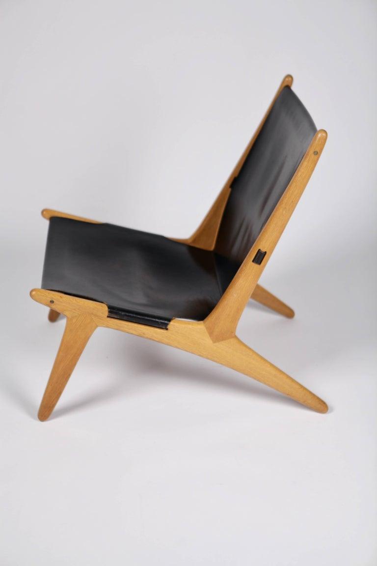 Scandinavian Modern Hunting Chair by Uno & Östen Kristiansson for Luxus, Sweden, 1954 For Sale