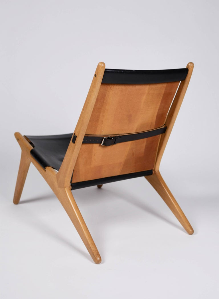 Swedish Hunting Chair by Uno & Östen Kristiansson for Luxus, Sweden, 1954 For Sale