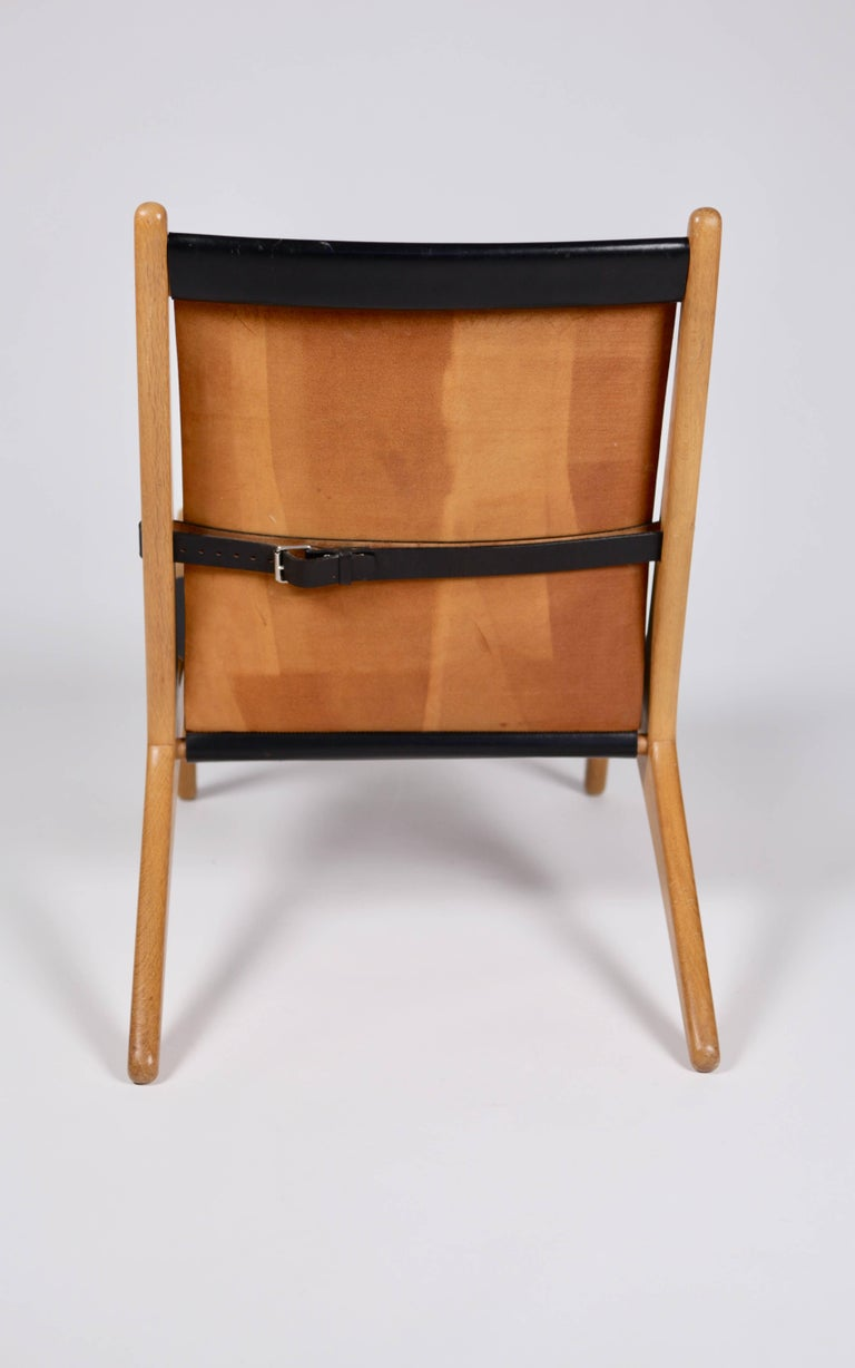 Hunting Chair by Uno & Östen Kristiansson for Luxus, Sweden, 1954 In Excellent Condition For Sale In , DE