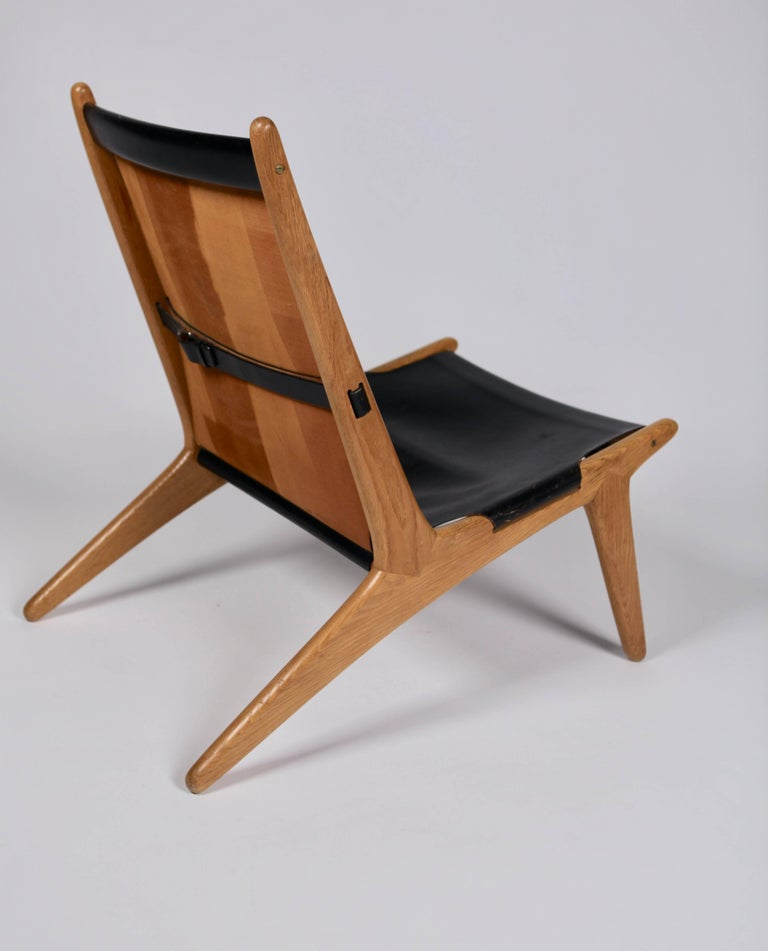 Mid-20th Century Hunting Chair by Uno & Östen Kristiansson for Luxus, Sweden, 1954 For Sale