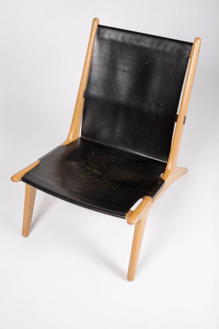 Hunting Chair by Uno & Östen Kristiansson for Luxus, Sweden, 1954 For Sale 1
