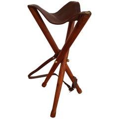 Hunting Chair, Danish Design, Teak Wood, Leather