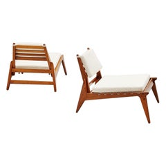 Hunting Chairs in Oak and Rope Made in Sweden, 1960