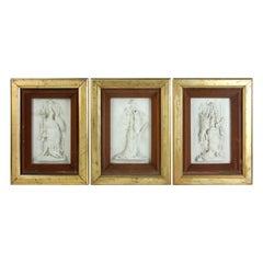 Deer, Wild Boar, Hare Framed Plaster Reliefs