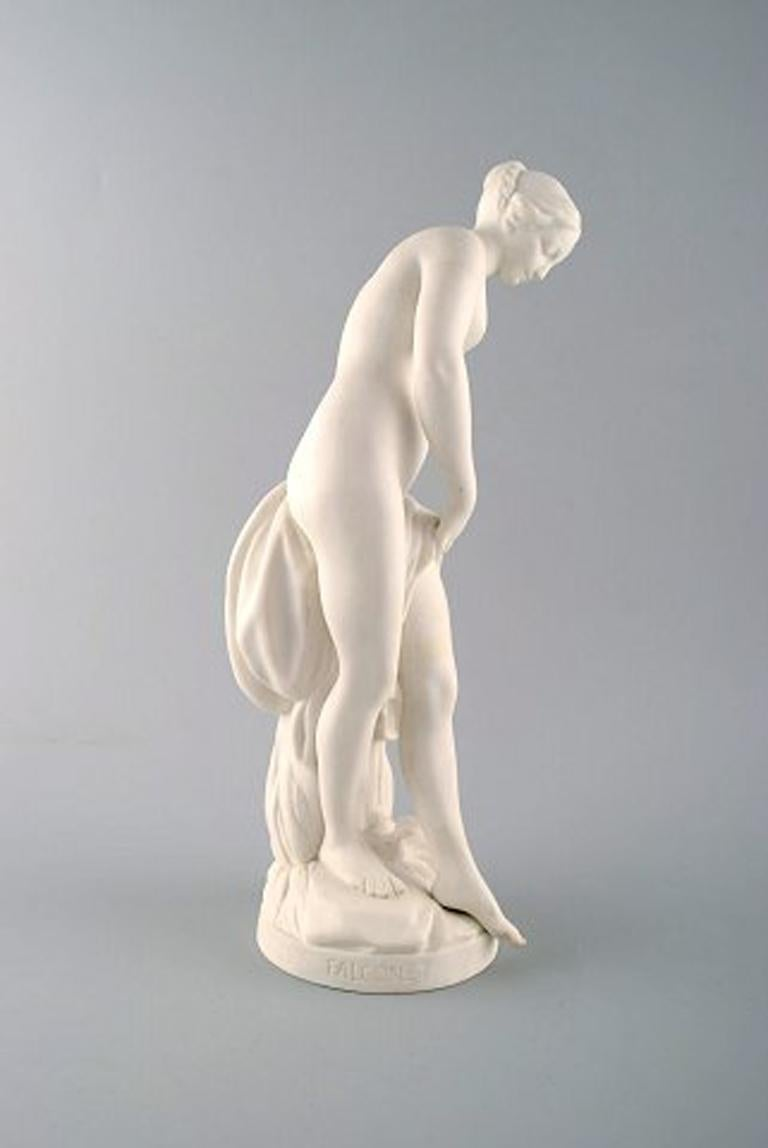 Danish Hunting Goddess Diana, after Etienne Maurice Falconet, Gustafsberg For Sale