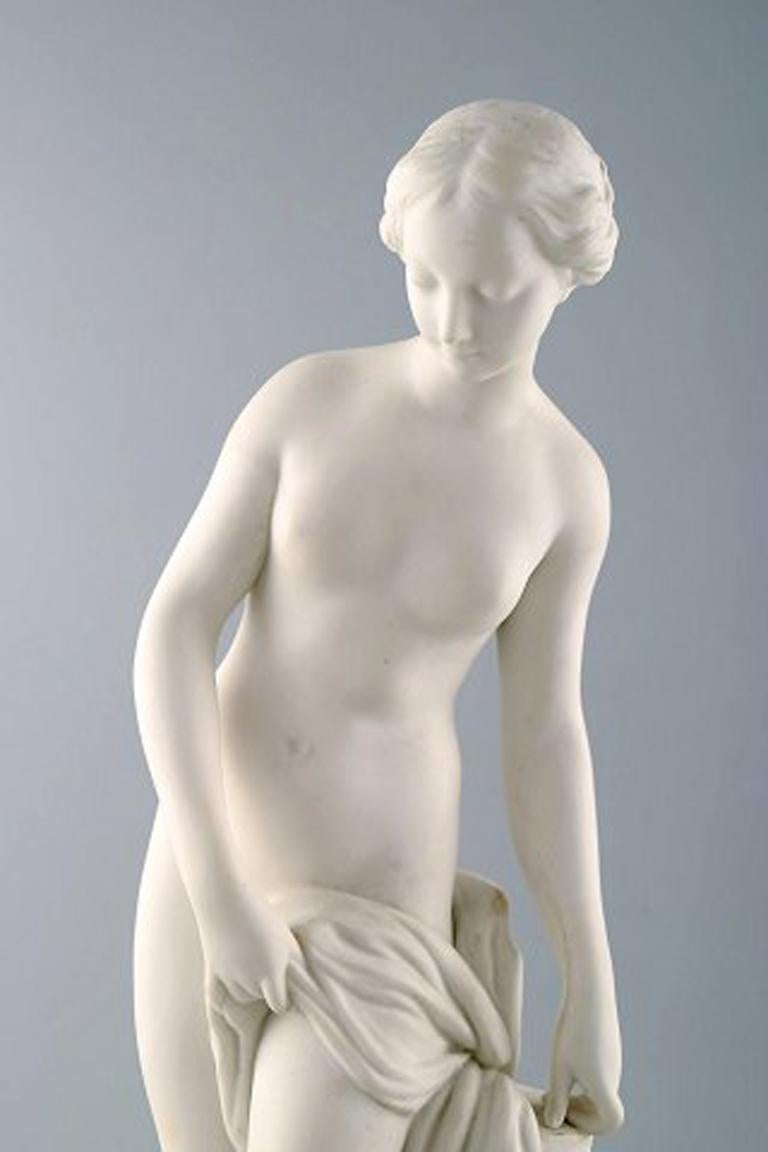 Hunting Goddess Diana, after Etienne Maurice Falconet, Gustafsberg In Excellent Condition For Sale In Copenhagen, Denmark