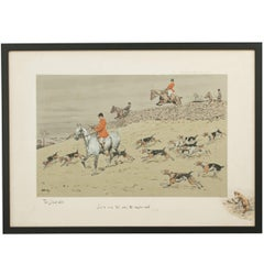 Hunting Print, Stone Wall