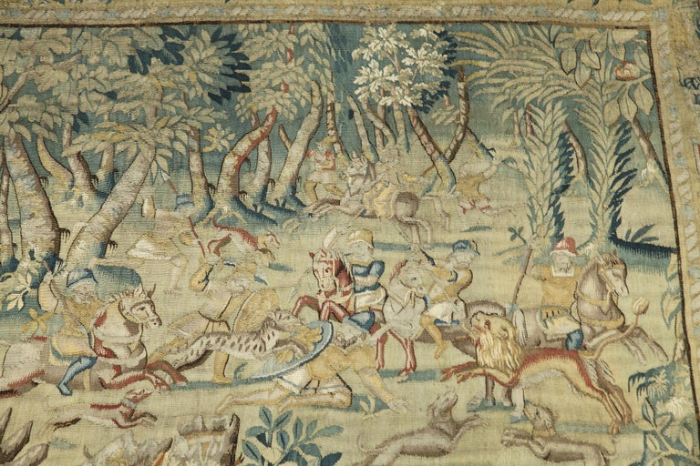 Hunting Scene with Fantasy Animals by Brussels Manufacture For Sale 2