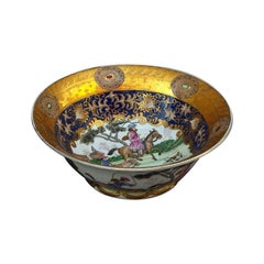 Hunting Scenes Porcelain Bowl, Early 20th Century