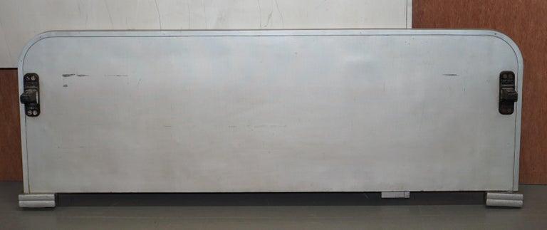 English Huntinton Aviation Industrial Art Deco Bed Frame Aluminium Vintage Machine Work