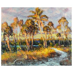 'Hurricane Pass' Original Florida Oil Painting by Robert C. Gruppe, American