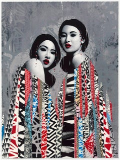 HUSH: Duality - Limited edition lithograph. Street art, Urban. Women portraits