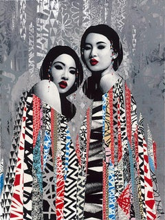 Hush - Duality - Silver Edition - Urban Graffiti Street Art Screen Print