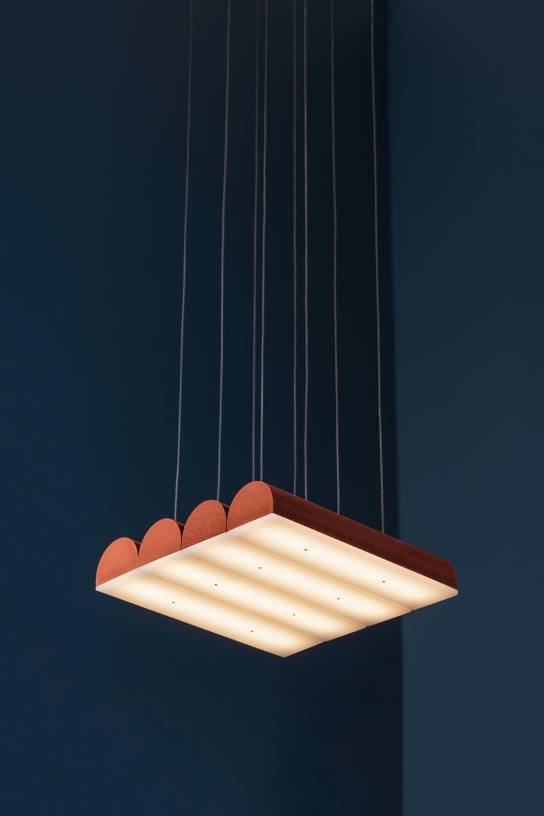 Hutchison 04, Terracotta Pendant Light In New Condition For Sale In Montreal, Quebec