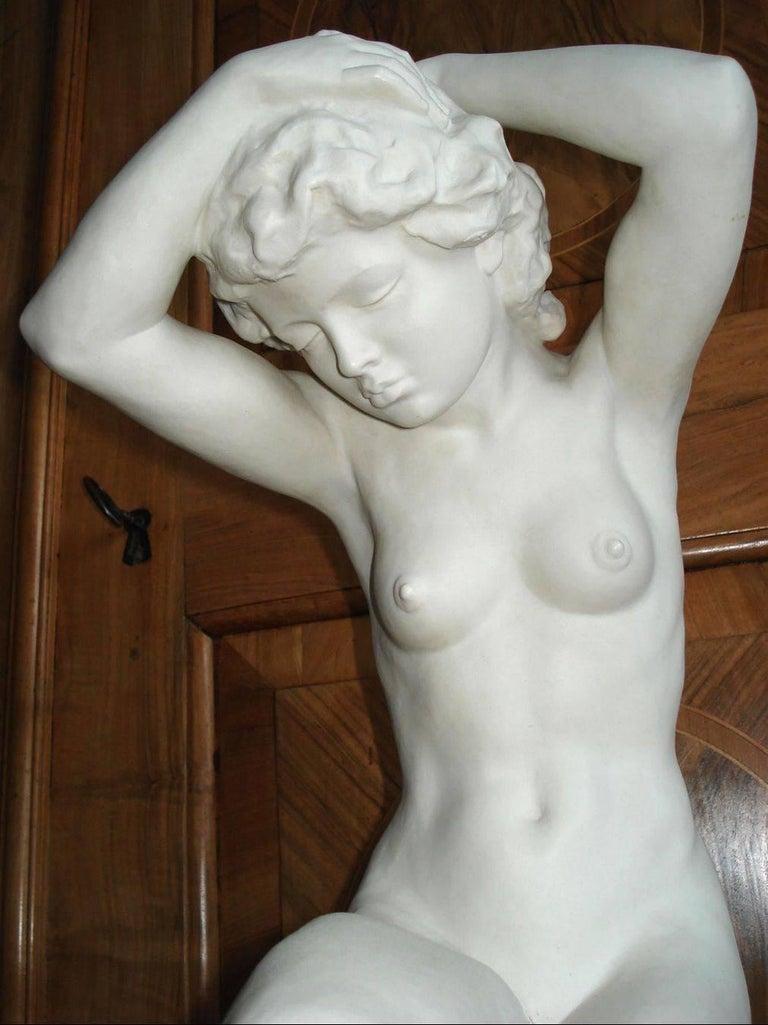 Romantic Hutschenreuther Large Porcelain Woman Figure Signed Karl Tutter For Sale