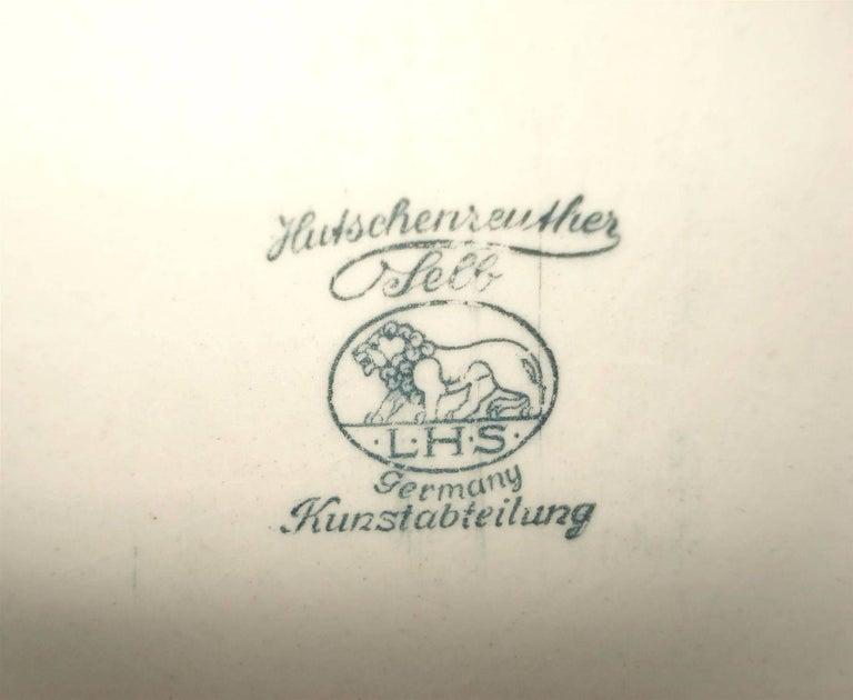 German Hutschenreuther Large Porcelain Woman Figure Signed Karl Tutter For Sale