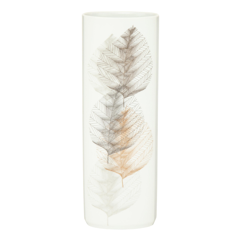 Hutschenreuther Selb Leaf Vase, White Porcelain, Signed
