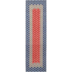 Hutton Hand-Knotted Floor Runner in Wool by Jonathan Saunders