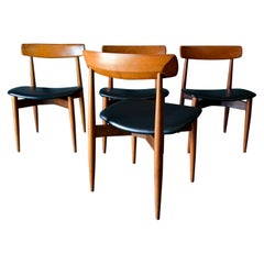 H.W. Klein for Bramin Sculpted Teak Dining Chairs, circa 1965