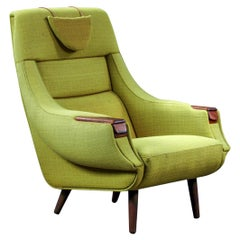 H.W. Klein Highback Armchair with Rosewood Paws