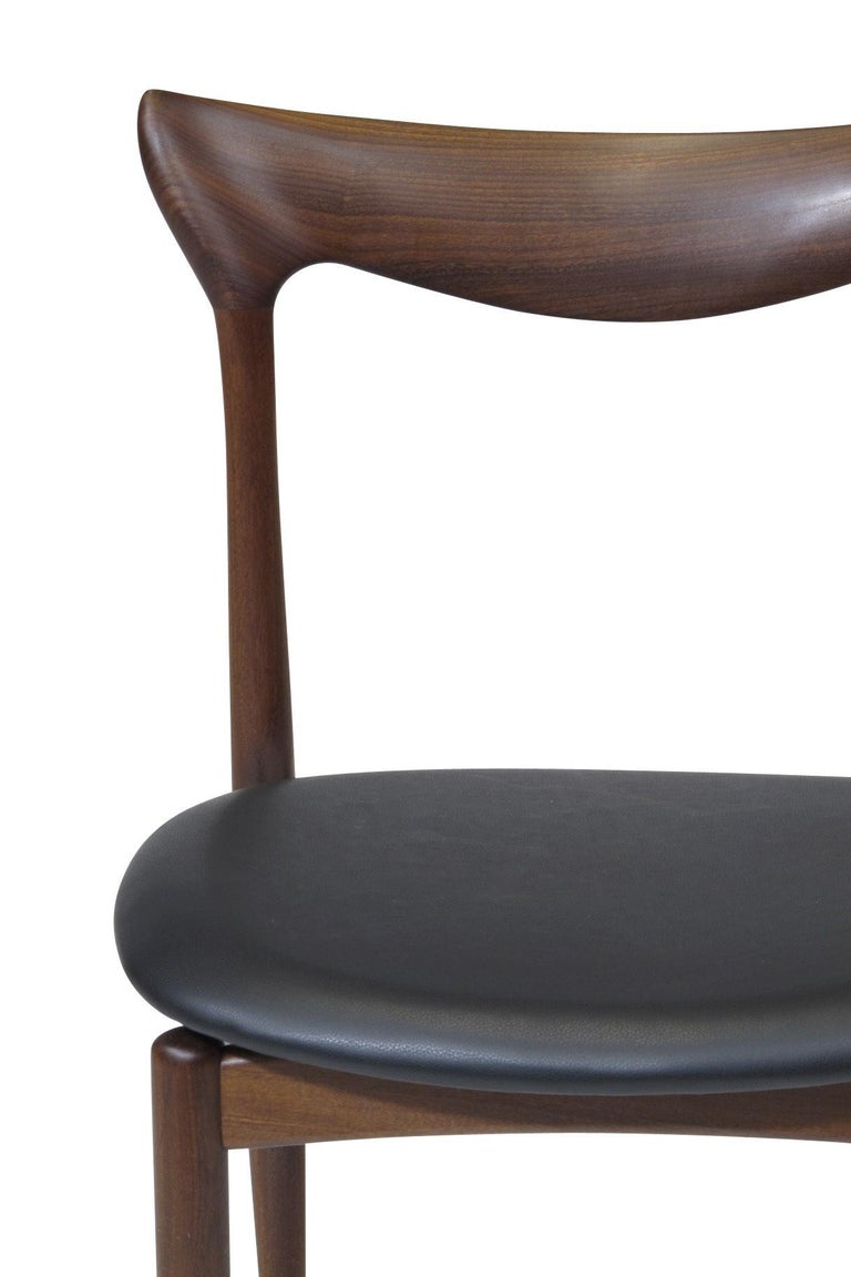 H.W. Klein Sculpted Back Dining Chairs of Walnut, Set of Six 1