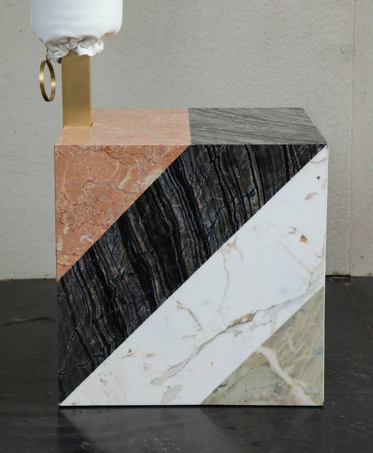 HW10 Valet in Marble, Brass and Leather by Home Studios and Natasha Royt For Sale 4