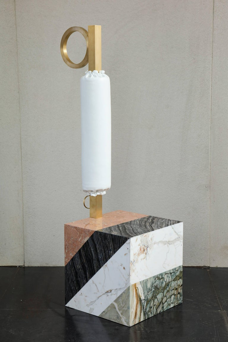 HW10 Valet in Marble, Brass and Leather by Home Studios and Natasha Royt For Sale 5