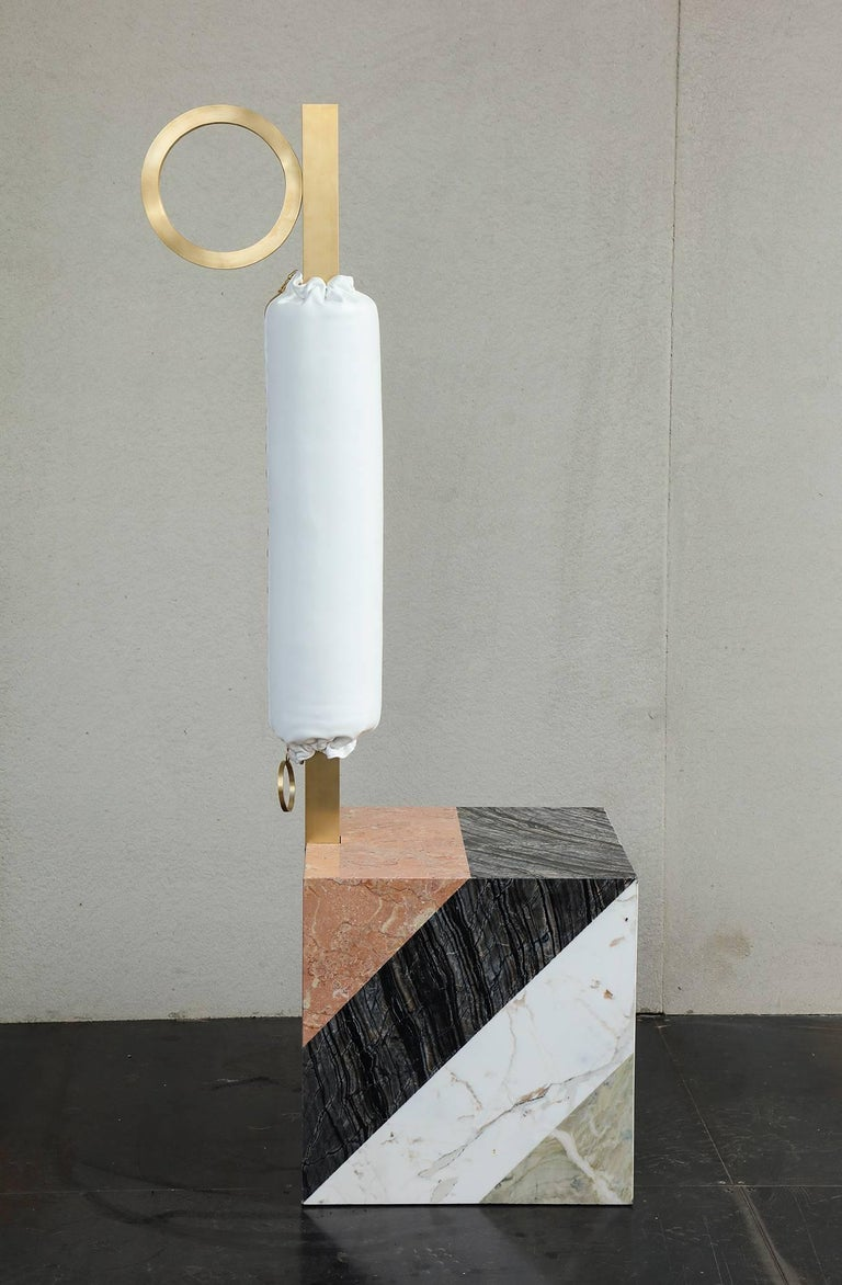 Modern HW10 Valet in Marble, Brass and Leather by Home Studios and Natasha Royt For Sale