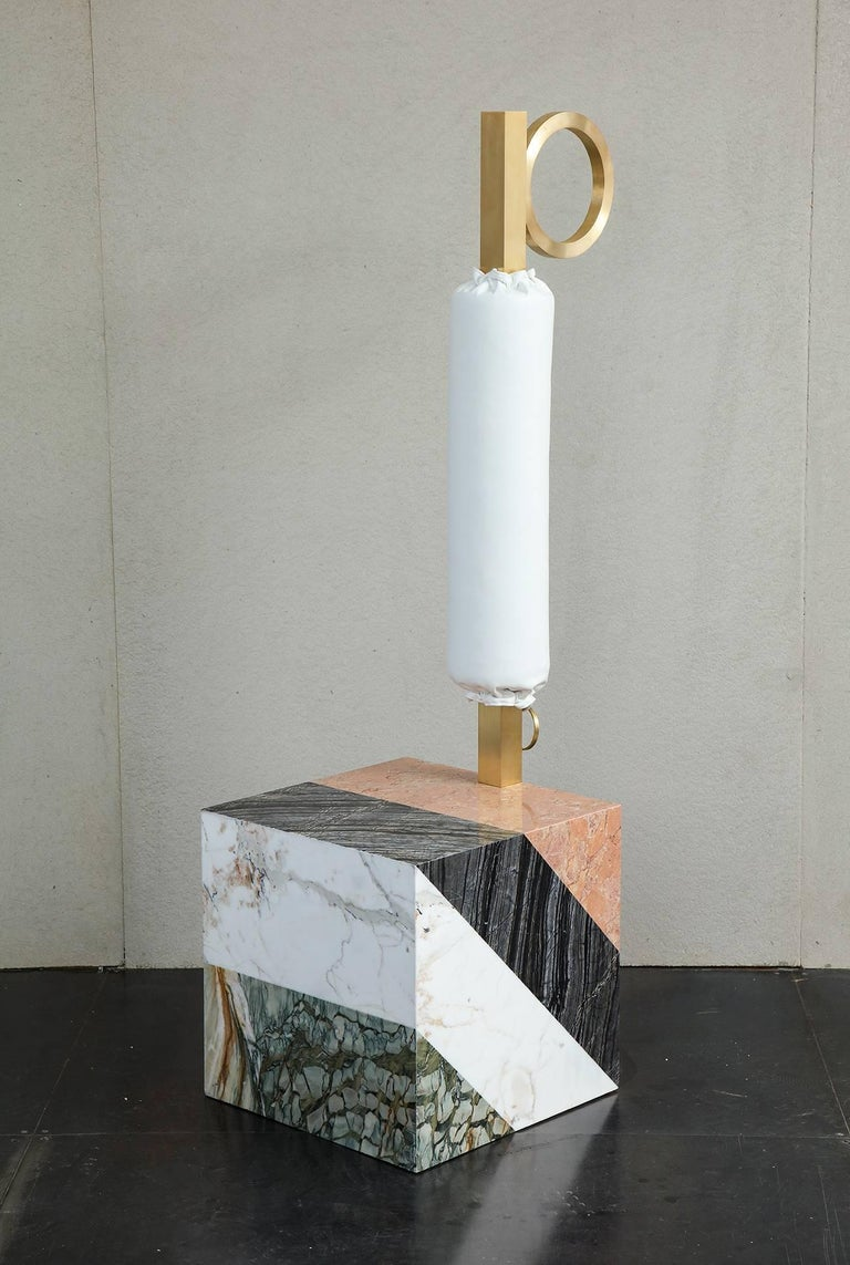 HW10 Valet in Marble, Brass and Leather by Home Studios and Natasha Royt For Sale 1