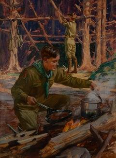 Boy Scouts Camping Scene