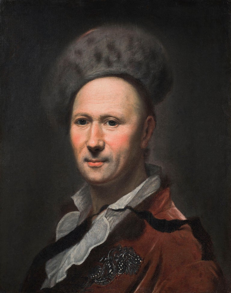 Hyacinthe Rigaud Portrait Painting - Portrait of a Gentleman in a Fur Hat