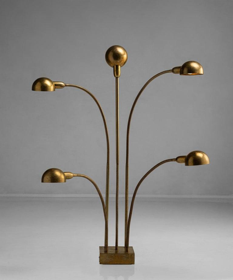 French Hydra Lamp by Pierre Folie, France circa 1970