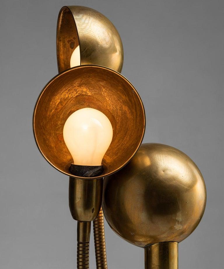 Brass Hydra Lamp by Pierre Folie, France circa 1970