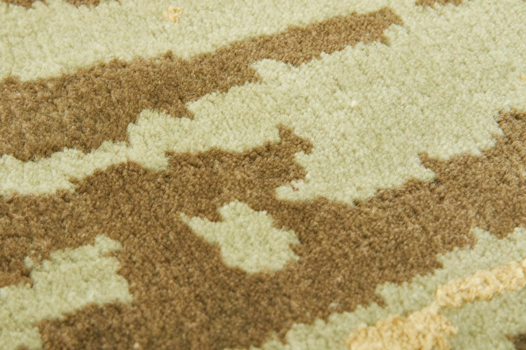 Hand-Knotted Hydrangea Carpet, Hand Knotted in Wool and Viscose, 60 Knots, Van Eijk For Sale