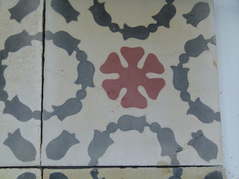 Hydraulic Spanish Art Nouveau Tiles For Sale 5