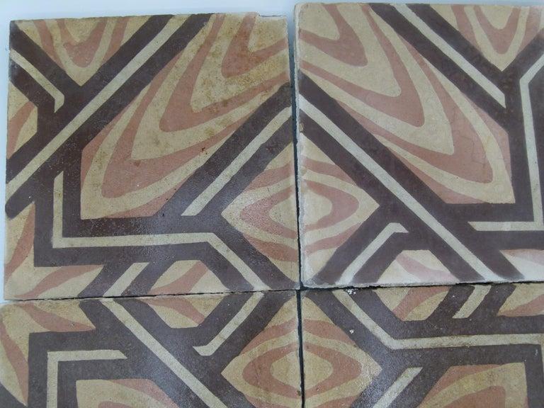 20th Century Hydraulic Spanish Art Nouveau Tiles For Sale