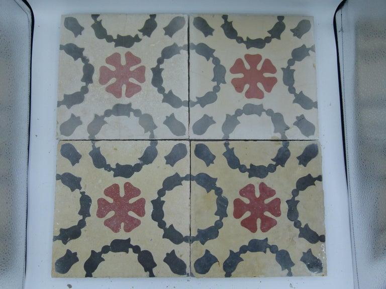 Hydraulic Spanish Art Nouveau Tiles For Sale 2