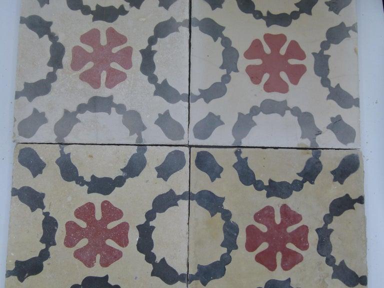 Hydraulic Spanish Art Nouveau Tiles For Sale 3
