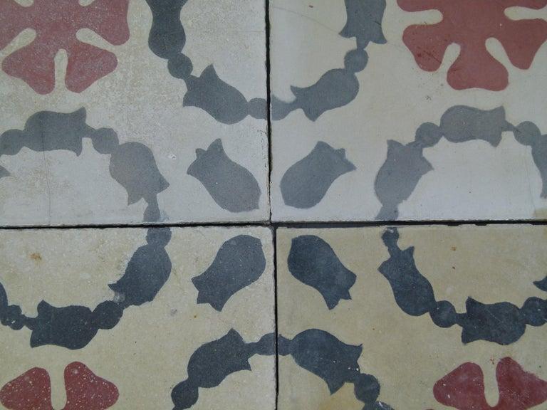 Hydraulic Spanish Art Nouveau Tiles For Sale 4